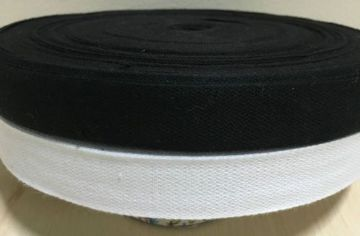 19mm (3/4inch) COTTON TAPE for BUNTING, APRON ETC ~FULL 50 METER ROLL- BLACK/WHITE